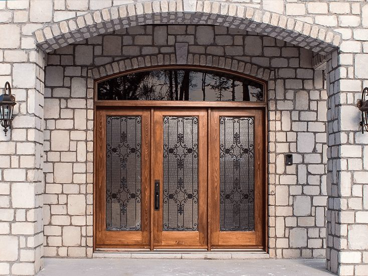 custom wooden front door