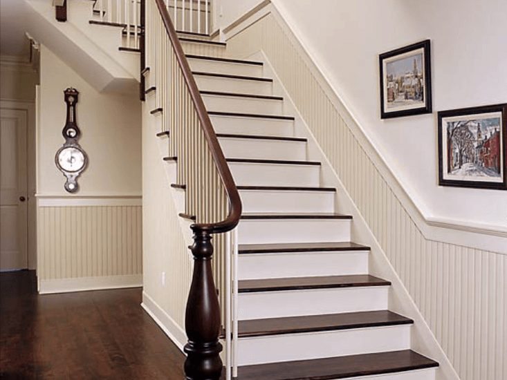 white custom staircase