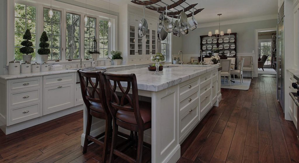 beautiful custom white kitchen